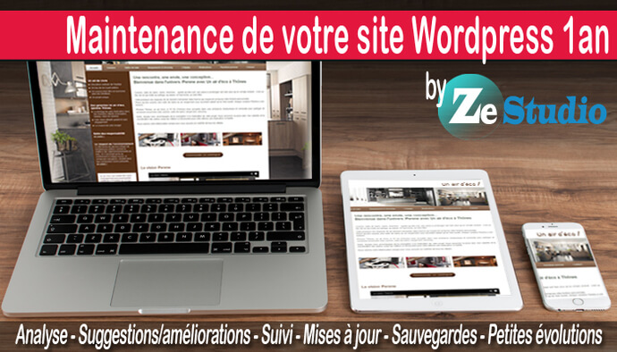 Maintenance annuelle de votre site web Wordpress