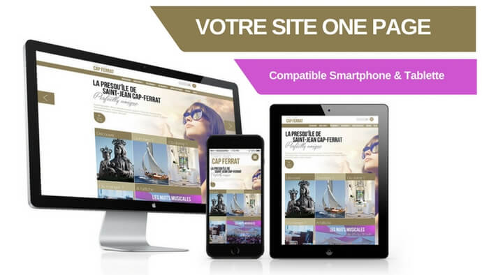 Site web One-page compatible tablette & smartphone