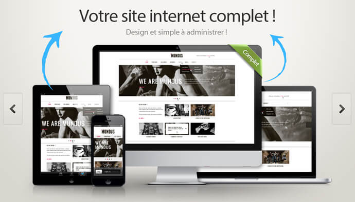 Site internet vitrine simple, design et abordable !