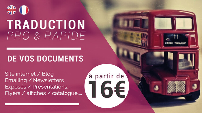 Traduction experte et rapide AN/FR ou FR/AN