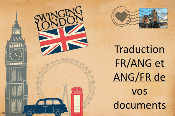 Traduction de vos documents FR/ANG, ANG/FR