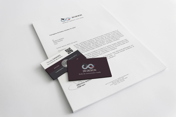 cr u00e9ation de carte de visites professionnelle - sn design graphisme