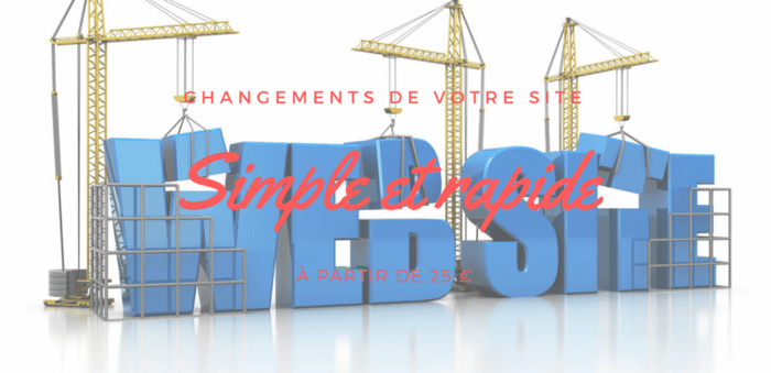 Modification de votre site web